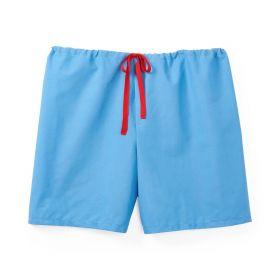 Drawstring Pajama Shorts Light Blue, Size XL