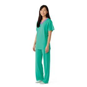 Short-Sleeve Pajama Shirt, Green, Size L