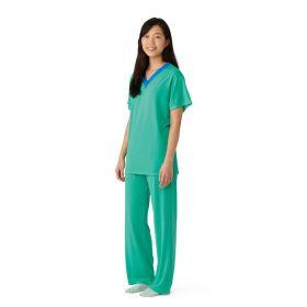 Short-Sleeve Pajama Shirt, Green, Size XL