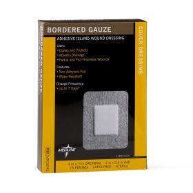 Bordered Gauze Adhesive Island Wound Dressing MSC3245