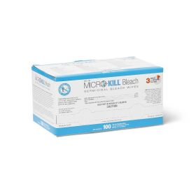 "Micro-Kill Bleach Germicidal Bleach Wipes,3""x3"",Individually Wrapped,100/Box"