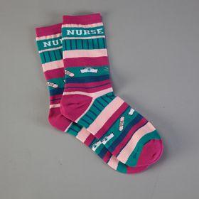 Crazy Stripe Nurse Socks