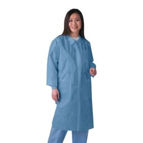 Disposable Knit Cuff  Traditional Collar Multilayer Lab Coats   NONSW400MH-Out of Stock