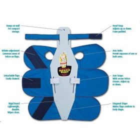 Small Papoose Board with Head and Arm Straps for Infant