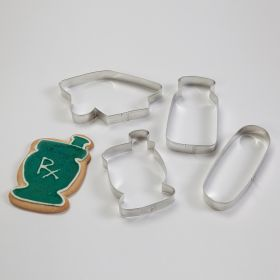 Pharmacy Grad Cookie Cutter Set, Set of 4