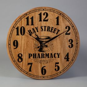 Pharmacy Barrel Head Clock, Personalized