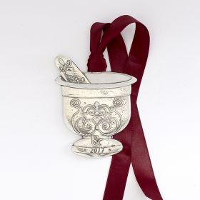 Pewter Mortar and Pestle Ornament - 2017