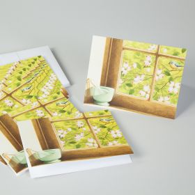 Spring Dogwood Win Dow Mortar and Pestle Note Cards