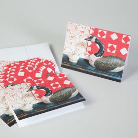Goose and Quilt Mortar and Pestle Note Cards