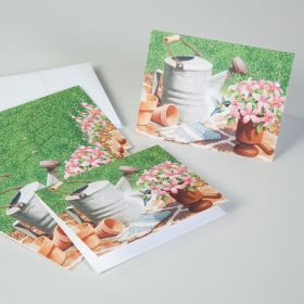Watering Can Mortar and Pestle Note Cards