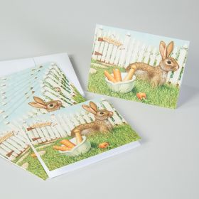 Bunny Garden Mortar and Pestle Note Cards