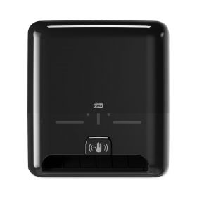"""Tork 5511282 Elevation Matic Paper Hand Towel Roll Dispenser with Intuition Sensor, Black, 14.5"""" H x 13.0"""" W x 8.0"""" D, for Tork 290087, 290088, 290089, 290092A, 290094, 290095, 290096"""