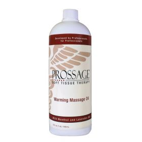 Prossage Heat Warming Relief Massage Oil for Therapuetic Massages, Deep Tissue Massage, 32 Ounce Bottles