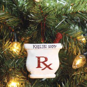 Glitter Rx Ornament - Personalized