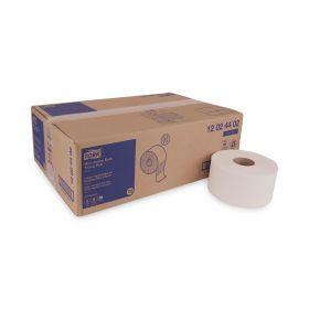 "Tork Advanced 12024402 Mini Jumbo Bath Tissue Roll, 2-Ply, 7.36"" dia., White, 3.55"" x 751'"