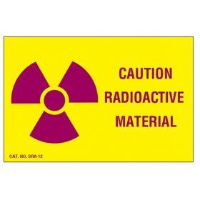 Radioactive Materials Warning Labels SHMSRA12