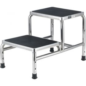 Global Industrial Chrome Two-Step Foot Stool