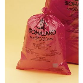 "Bel-Art Red Biohazard Disposal Autoclavable Bags,40-55 Gallon,1.5 mil Thick,38""W x 48""H,100/PK"