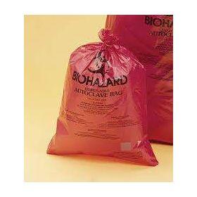 "Bel-Art Red Biohazard Disposal Autoclavable Bags,40-50 Gallon,2.0 mil Thick,37""W x 48""H,100/PK"