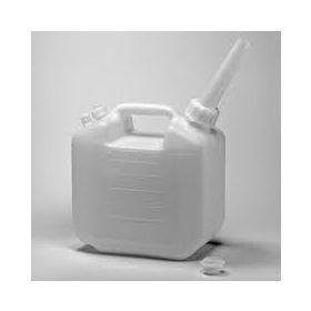 "Bel-Art HDPE Jerrican 10935-0000, 5 Liters (1.25 Gallons), Screw Cap, 1"" I.D. Spout, White, 1/PK"