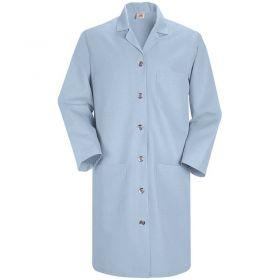 Red Kap Women's Lab Coat,Light Blue,Poly/Combed Cotton,L