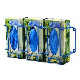 """Bel-Art F24739-0003 Poxygrid Steel Triple Box Glove Dispenser Rack, 17-1/2"""" x 4-1/4"""" x 8-1/4"""""""