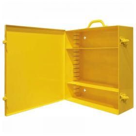 "Durham 534AV-50 Wall Mount Portable Spill Control Cabinet, 15""W x 5-9/16""D x 16-5/32""H, Yellow"