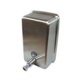 Genuine Joe Stainless Steel Liquid Soap Dispenser,Vertical,1185 mL - GJO85134