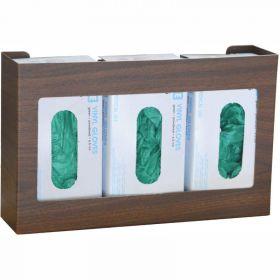 Omnimed Woodgrain Omni Triple Glove Box Holder, 1/Pack