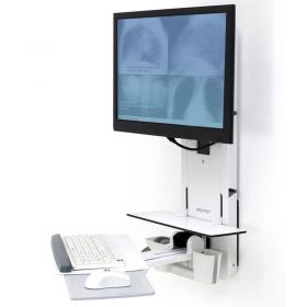 Ergotron 61-080-062 StyleView Sit-Stand Vertical Lift for Patient Room, White