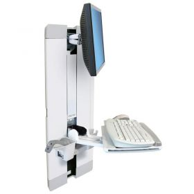 Ergotron 60-609-216 StyleView Vertical Lift for Patient Room, White