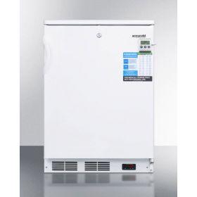 Summit FF7LWBIVAC Built-In Undercounter Auto Defrost Medical All-Refrigerator, 2.6 Cu.Ft. Capacity