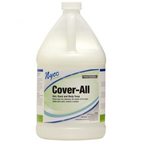 Nyco Cover-All Hair,Hand and Body Soap - White,4 Gallon - NL576-G4