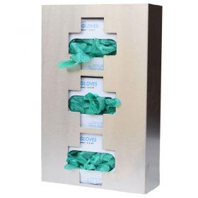 Omnimed 305337 Stainless Steel Triple Glove Box Holder, Medical Cross Design, 1/PK