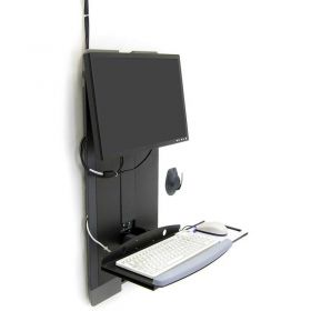 Ergotron StyleView Vertical Lift for High Traffic Area, Black