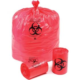 """Linear Low Density Red Infectious Waste Liner,1.5 mil,37"""" x 50"""",Pkg Qty 60"""