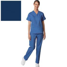 Unisex Set-In Sleeve Scrub Shirt,Reversible,Navy,XL