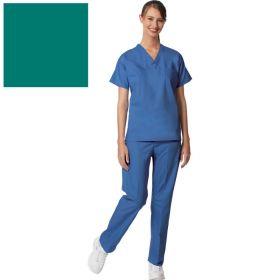 Unisex Set-In Sleeve Scrub Shirt,Reversible,Jade,3XL