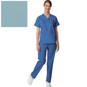 Unisex Set-In Sleeve Scrub Shirt,Reversible,Misty,M