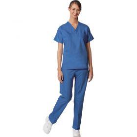 Unisex Set-In Sleeve Scrub Shirt,Reversible,Ciel Blue,M