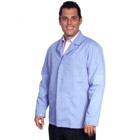 Unisex Microstat ESD Short Coat,Blue,S