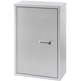 """Omnimed Stainless Double Door Narcotic Cabinet with Combo Lock & 4 Shelves, 16""""W x 8""""D x 24""""H"""