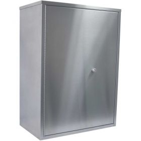 """Omnimed Stainless Maxi Narcotic Cabinet Double Door, Ambi-Top, 4 Adj. Shelves, 22""""Wx12""""Dx30""""H"""