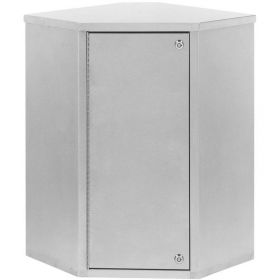 """Omnimed Corner Single Door Narcotic Cabinet with 4 Shelves, 22-3/4""""W x 15-5/8""""D x 24""""H"""