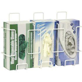 Omnimed Deluxe Triple Wire Glove Box Holder, White, 1/PK