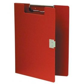 """Omnimed Standard Covered Poly Clipboard, 10""""W x 13""""H, Red"""
