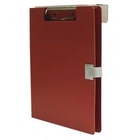 """Omnimed Overbed Covered Poly Clipboard, 10""""W x 13""""H, Red"""