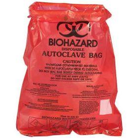 "Bel-Art Red Bench-Top Biohazard Bags 131660001,0.43 Gallon,0.72 mil Thick,8.5""W x 11""H,1000/PK"