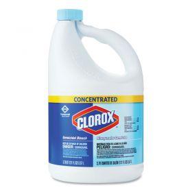 Clorox Concentrated Germicidal Bleach, Regular, 121 oz. Bottle, 3 Bottles/Case - 30966