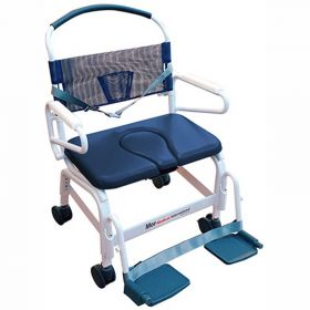 """Mor-Medical Euro Shower Commode Chair, 500 lbs. Capacity, 26""""W Seat"""